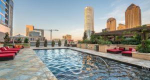 Dallas Luxury Highrise Pool Lounge