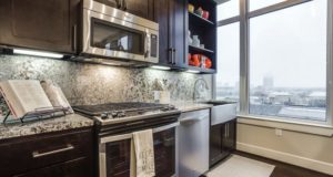 Dallas Uptown Luxury Highrise Kitchen View