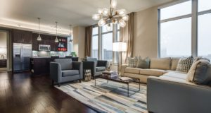 Dallas Uptown Luxury Highrise Livingroom