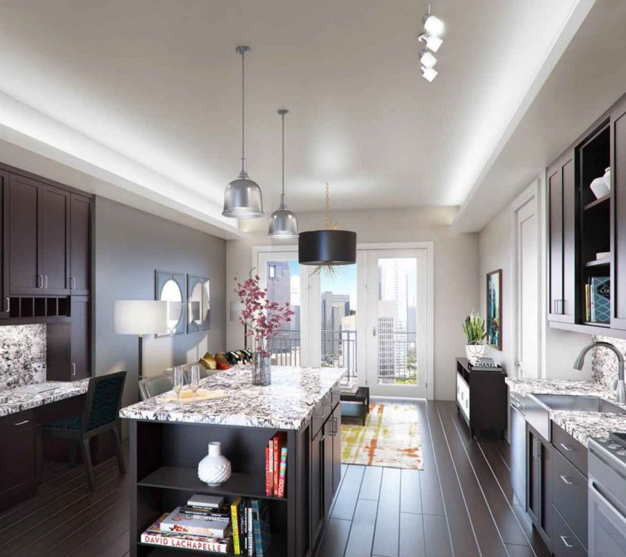 Dallas Uptown Luxury Highrise Kitchen