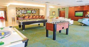 Downtown Dallas Apartment Home Entertainment Lounge