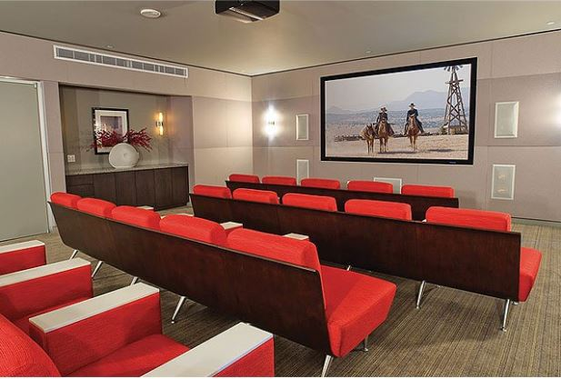 Downtown Dallas Apartment Homes Theatre room