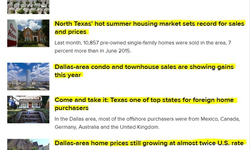 Real Estate Headlines July'16