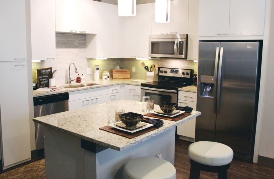 Oaklawn Apartment Homes Kitchen island