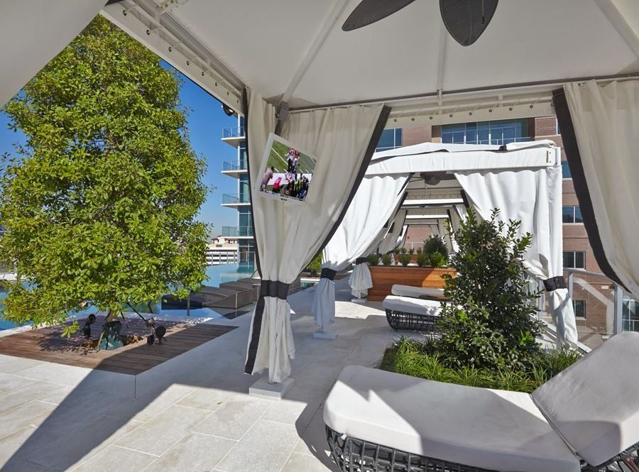 Uptown Dallas Luxury Highrise Cabanas